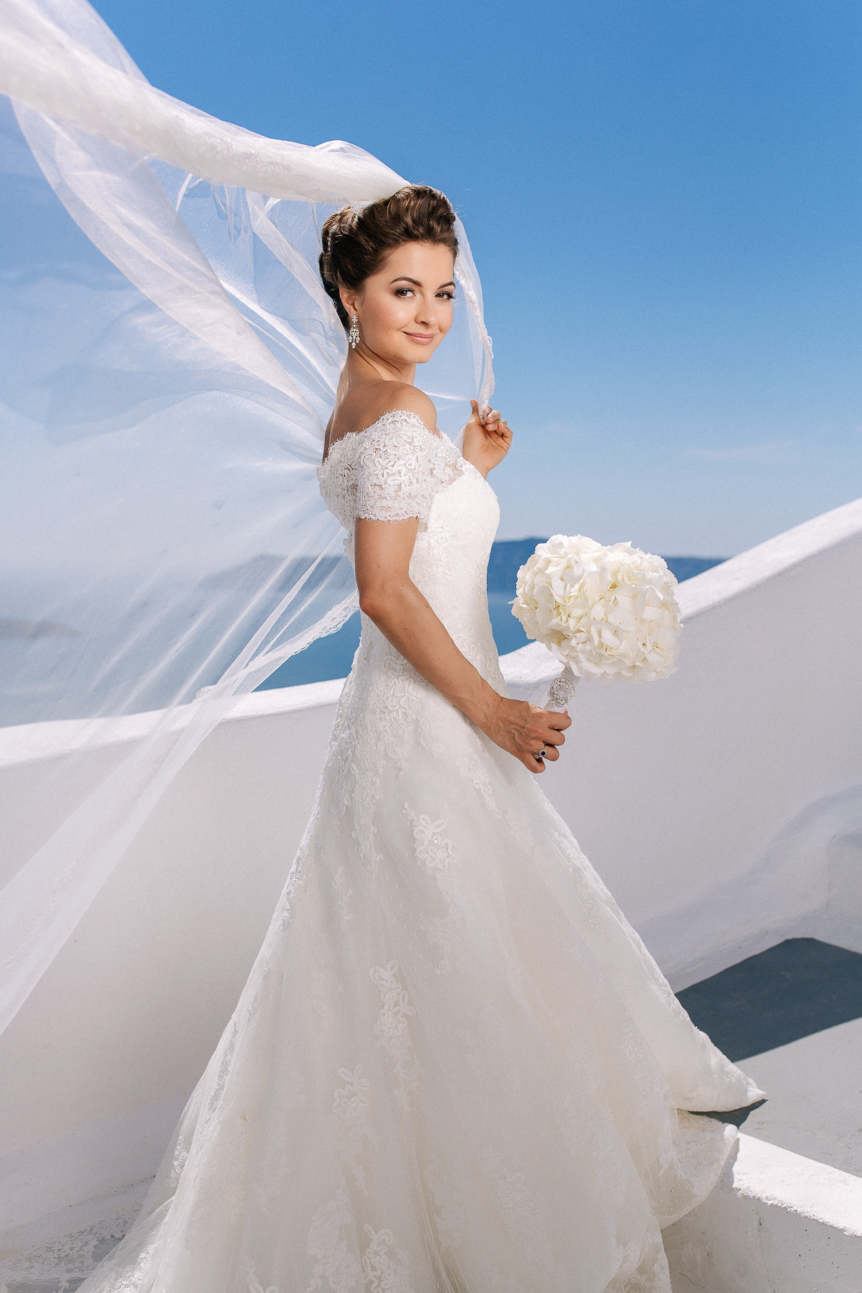 bride santorini greek islands photos