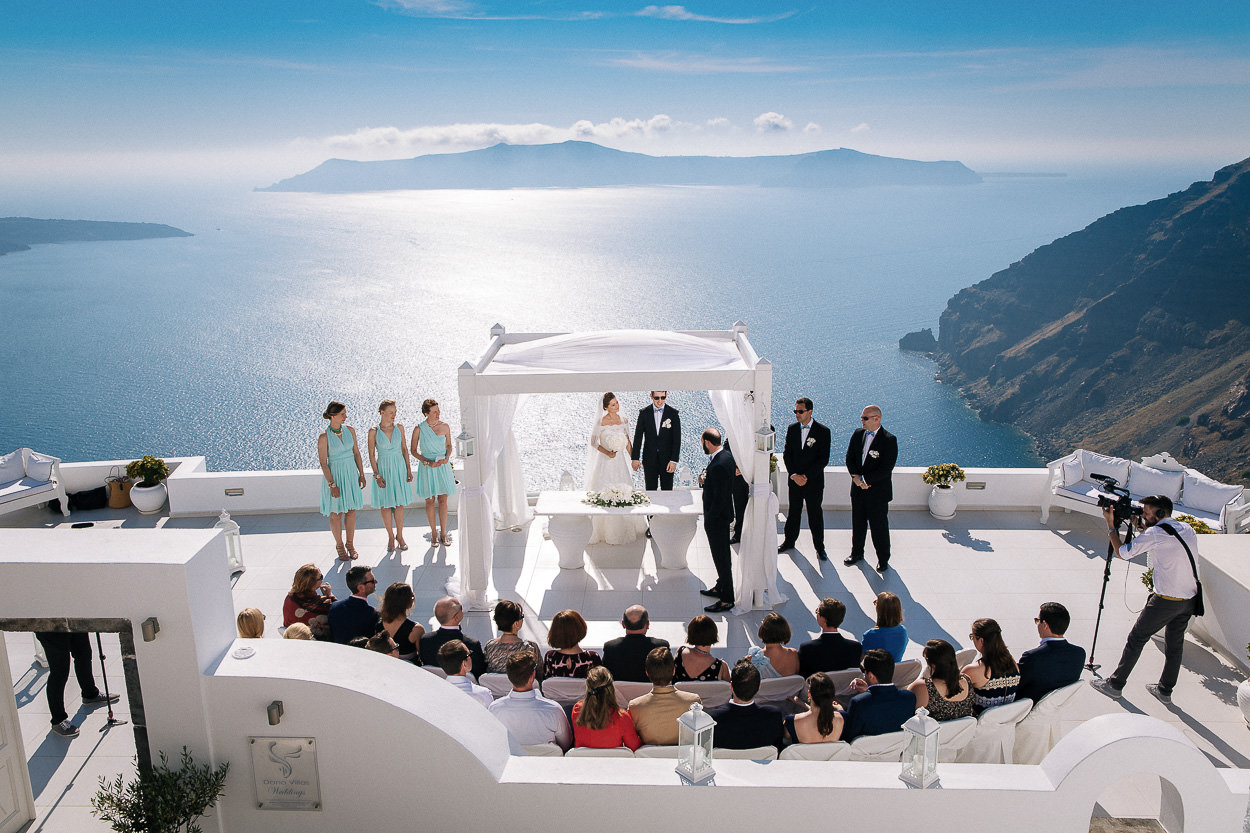 santorini wedding terrace photos