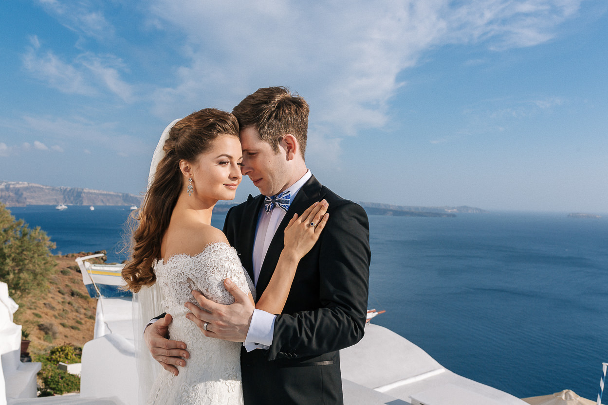 wedding in greek islands santorini photos