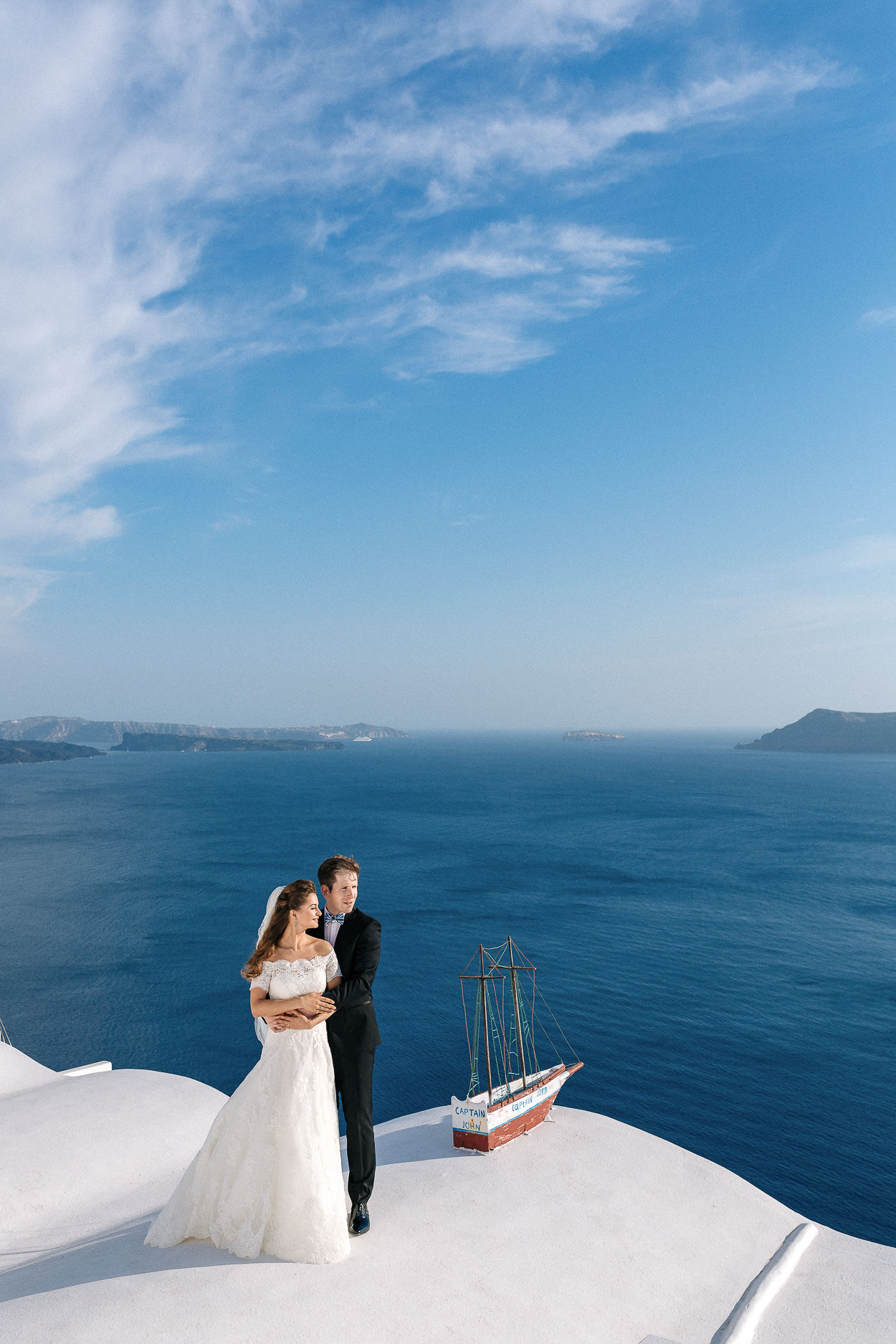 Oia wedding photo session Santorini island photos