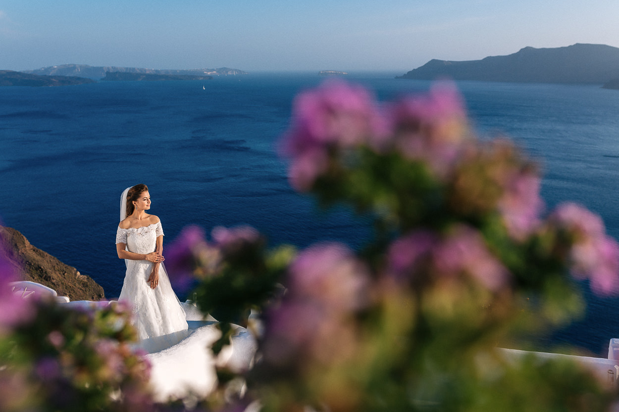 private wedding photo shooting Oia Santorini