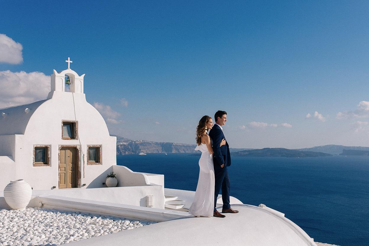 Santorini couple session