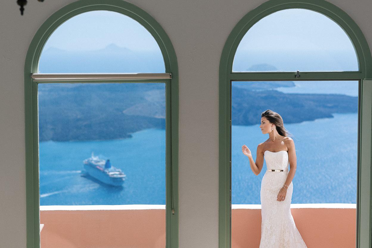 fashion wedding photos santorini