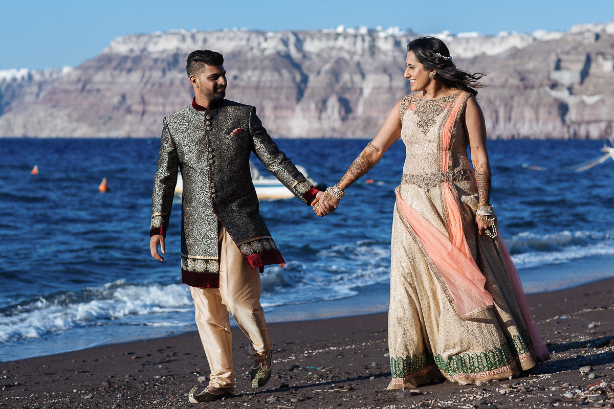 indian wedding santorini