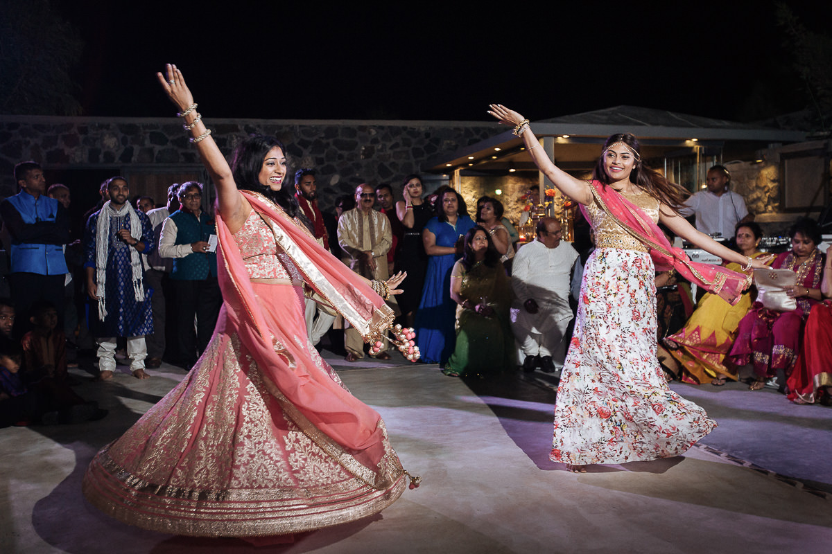 indian wedding in Greece sangeet