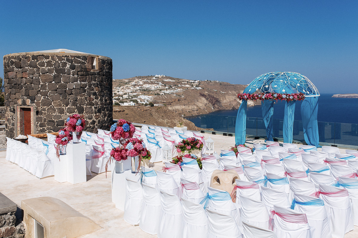 Santorini indian wedding venues