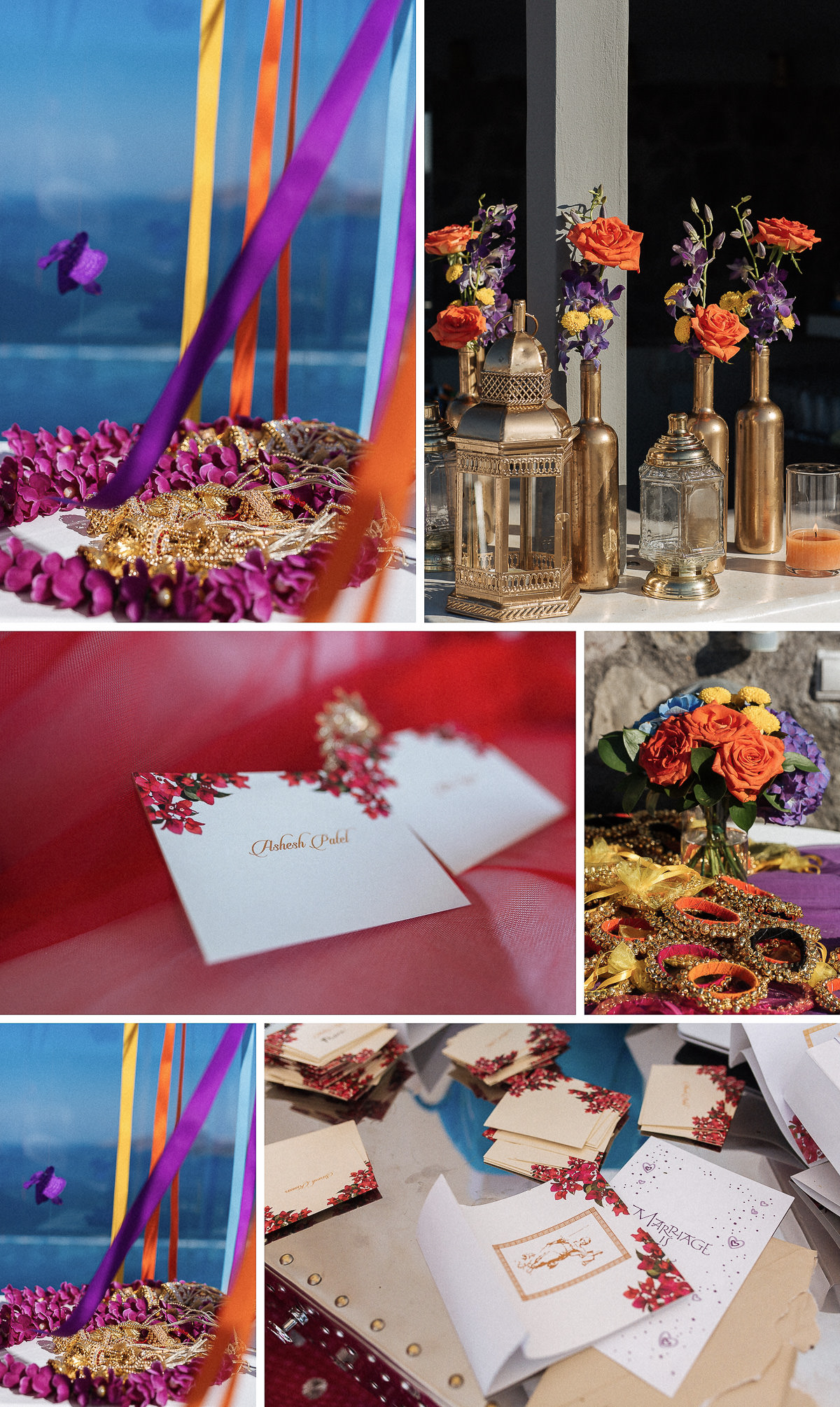 indian wedding in greece decoration
