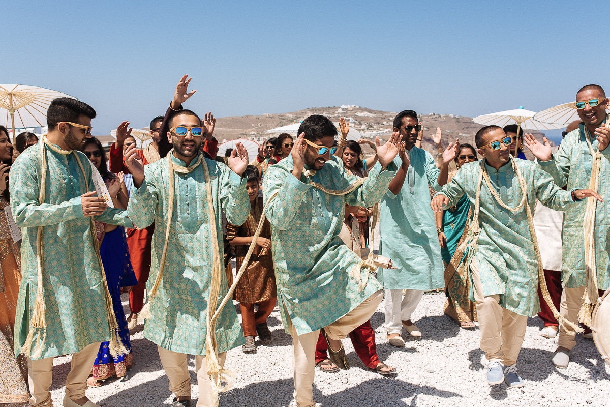 indian wedding in Greece baraat