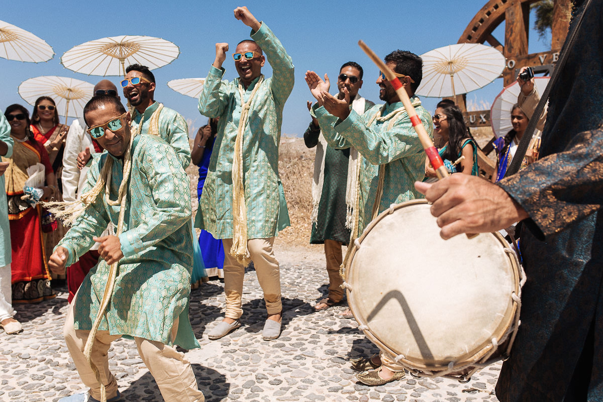 indian wedding in Mykonos baraat