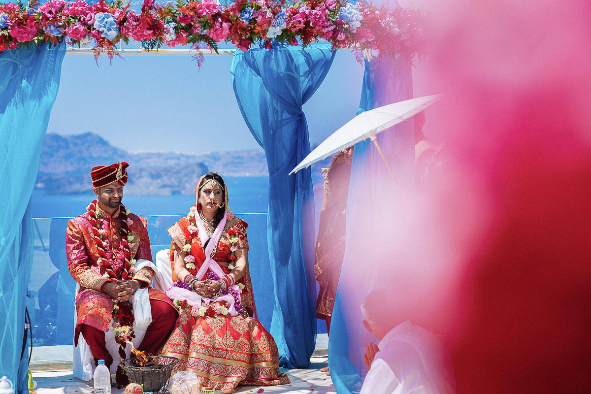 indian wedding in Santorini