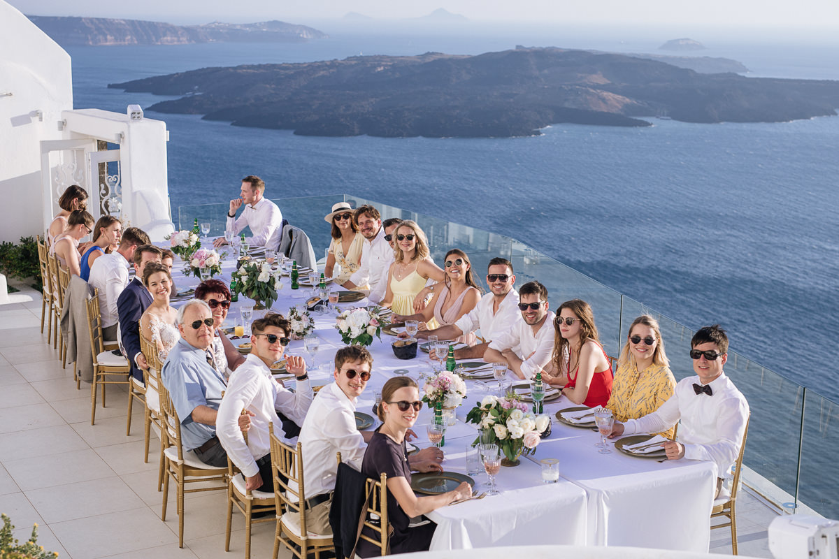 Dana Villas santorini wedding reception