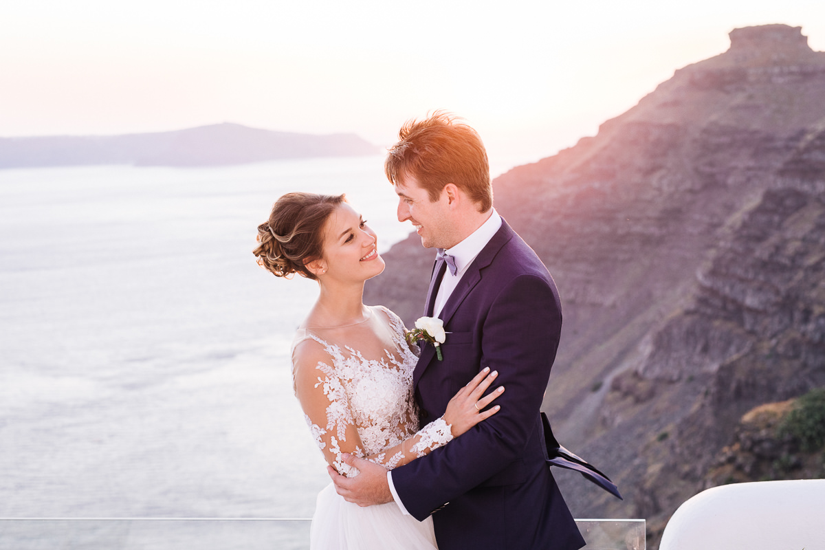 Dana Villas santorini sunset wedding photos