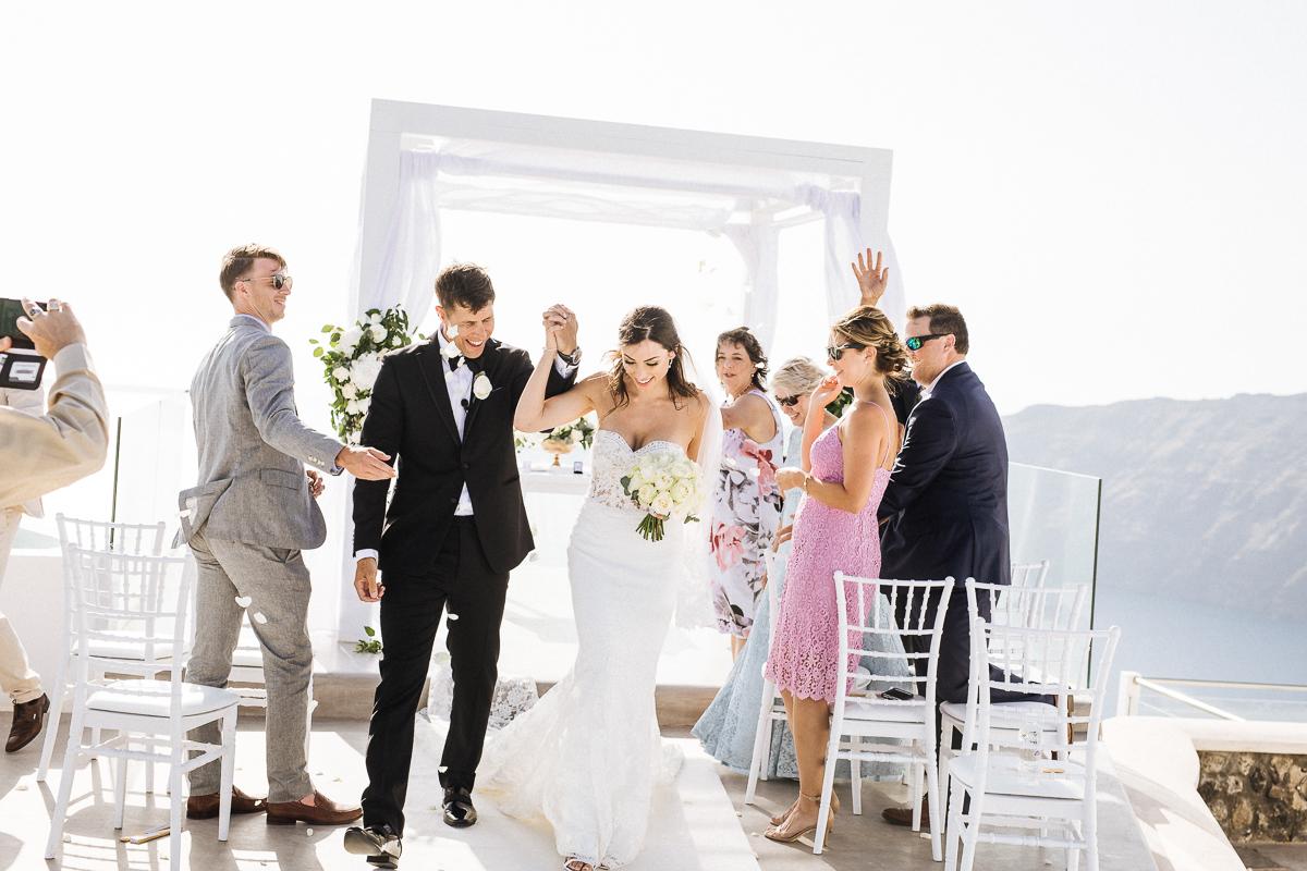 wedding at rocabella santorini infinity kiosk