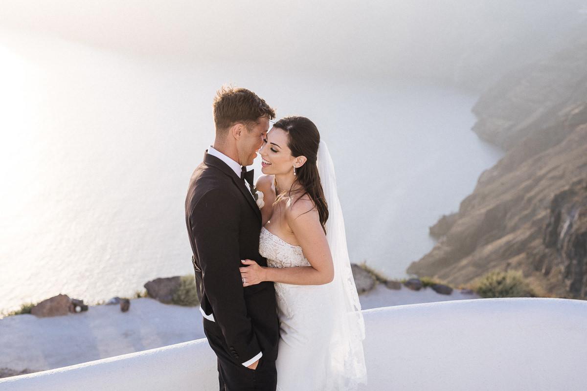 wedding at rocabella santorini sunset photos