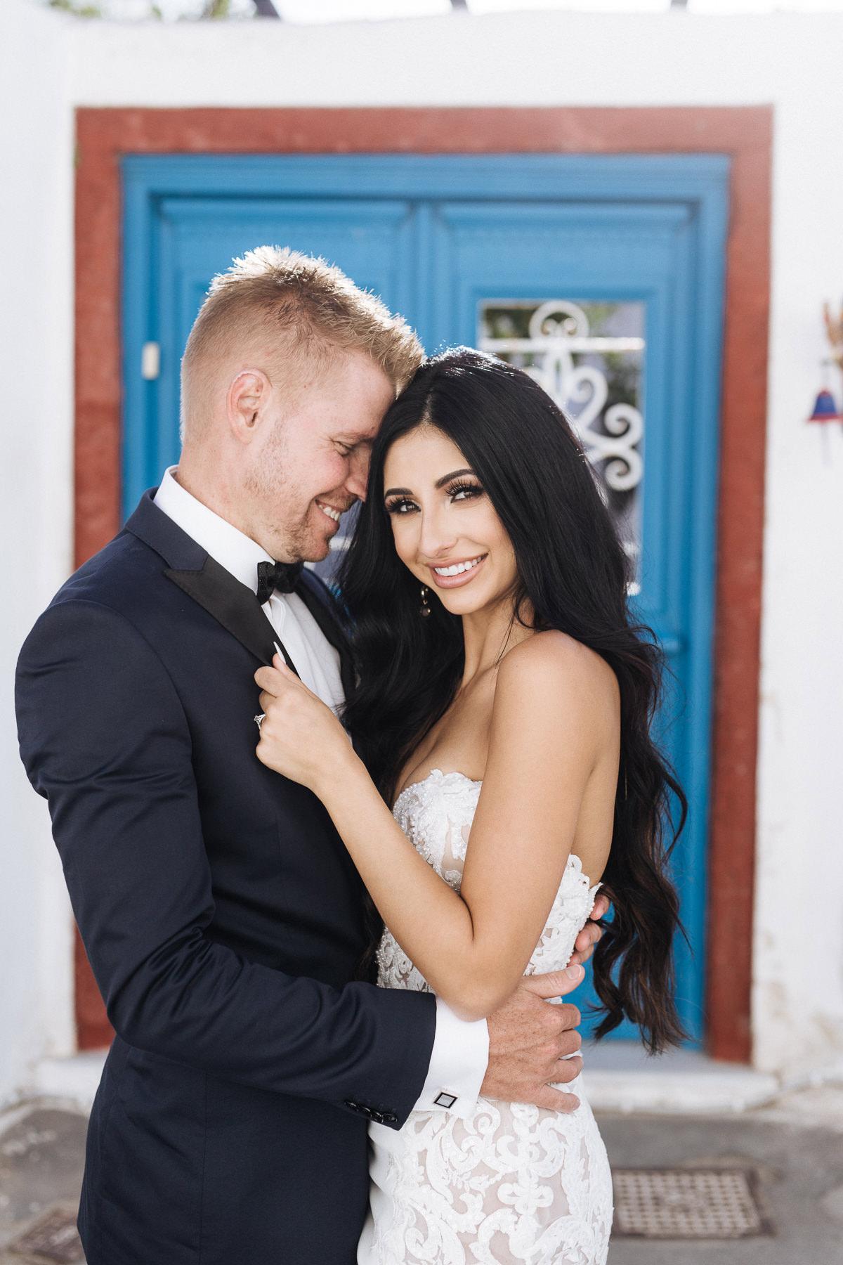 best santorini elopement photos