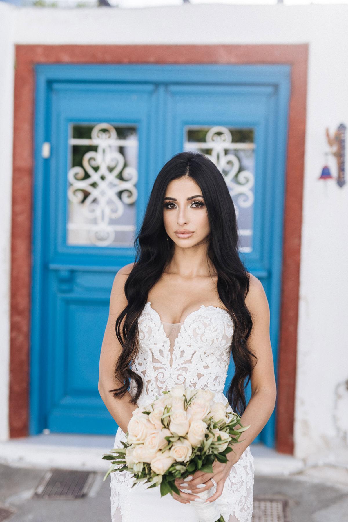 santorini bride photos