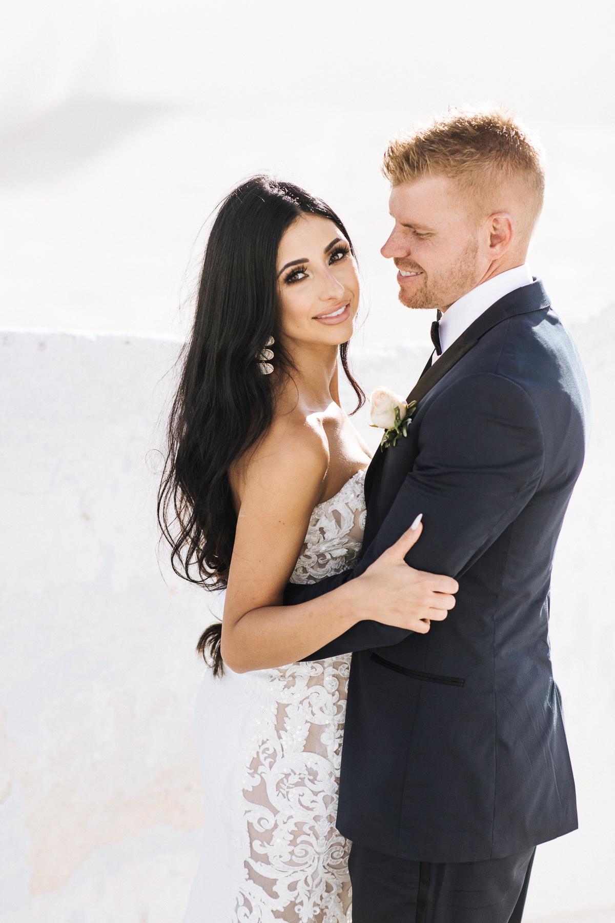 santorini elopement photos
