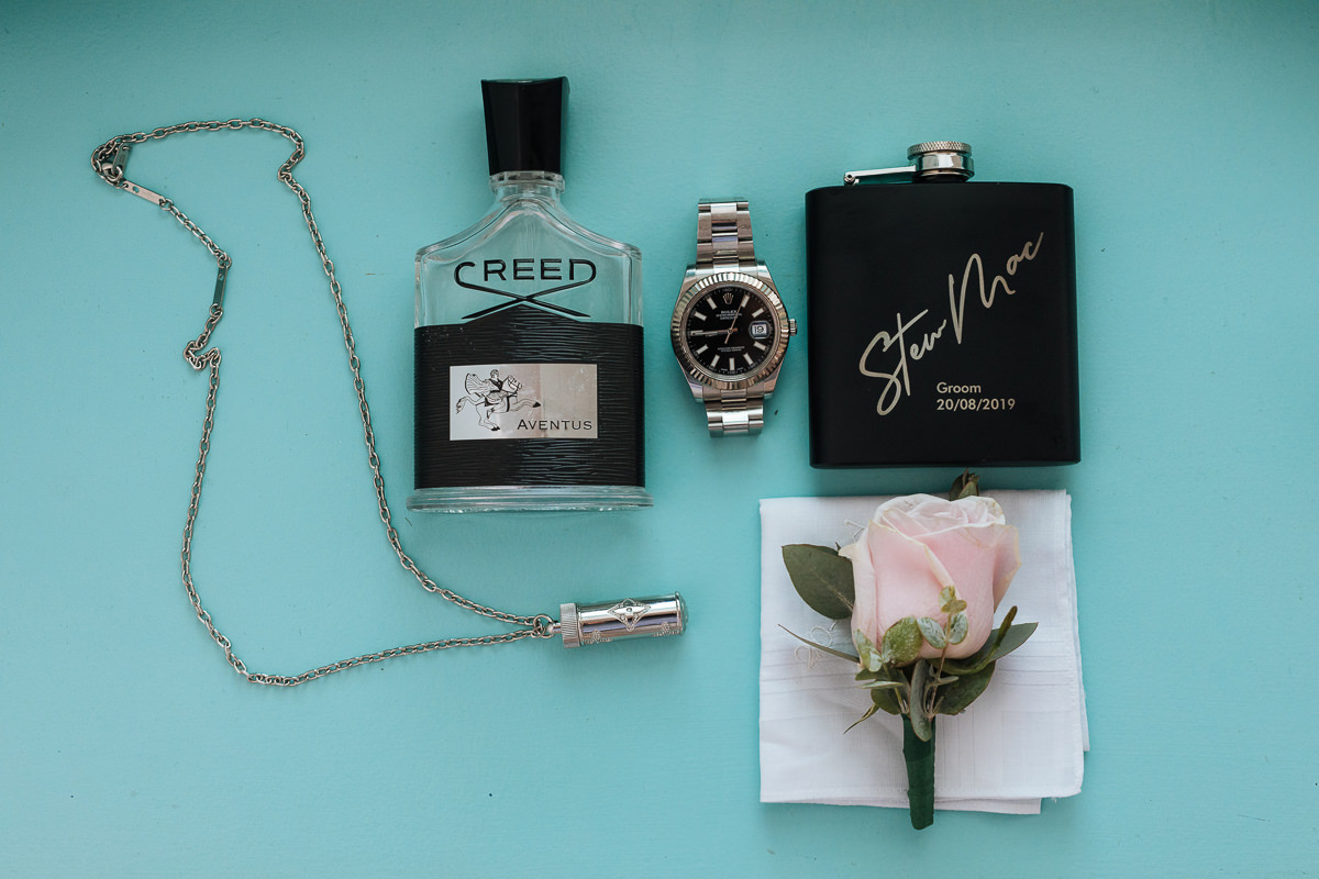 Groom's accessories santorini wedding