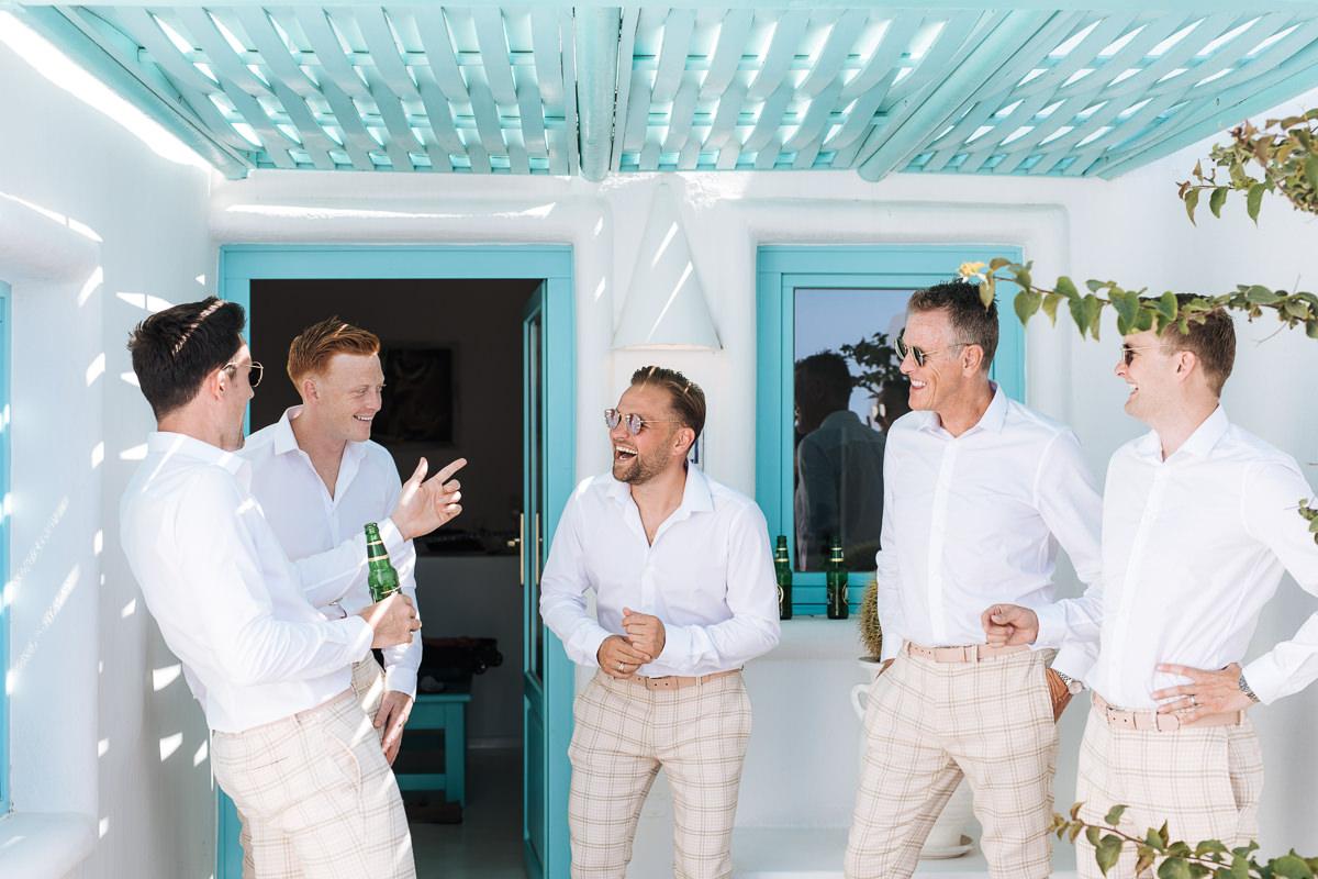 Santorini groomsmen