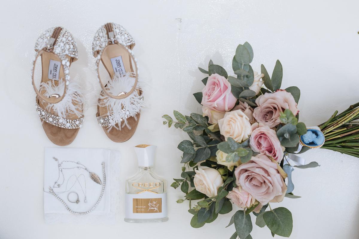 santorini wedding bouquet