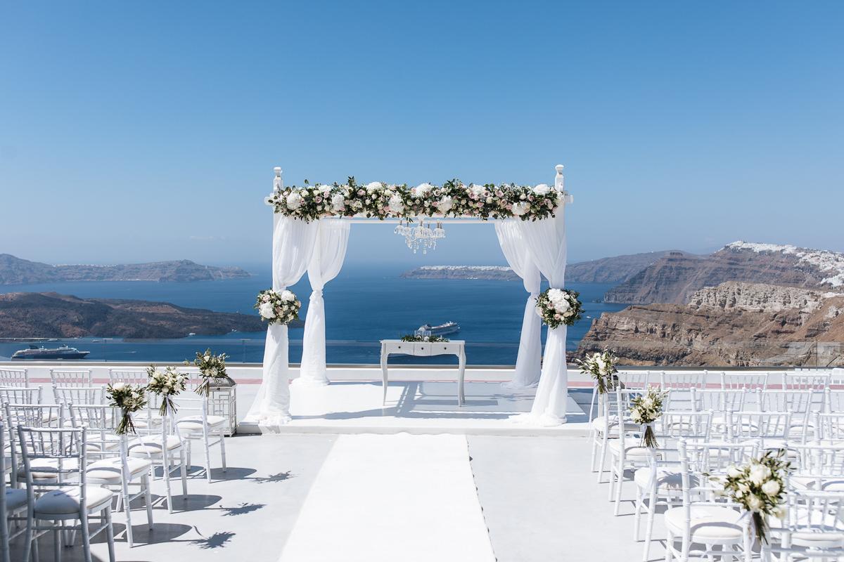 wedding at santorini gem gazebo decoration