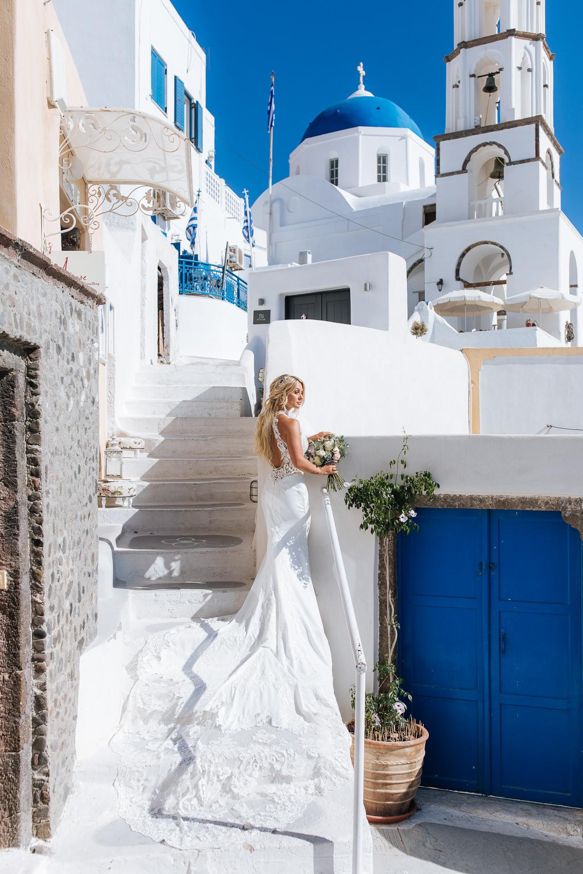 wedding at santorini gem pyrgos village wedding photos