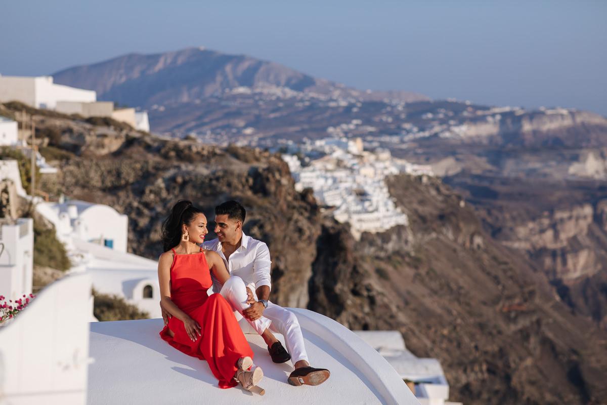 santorini indian photo shoot