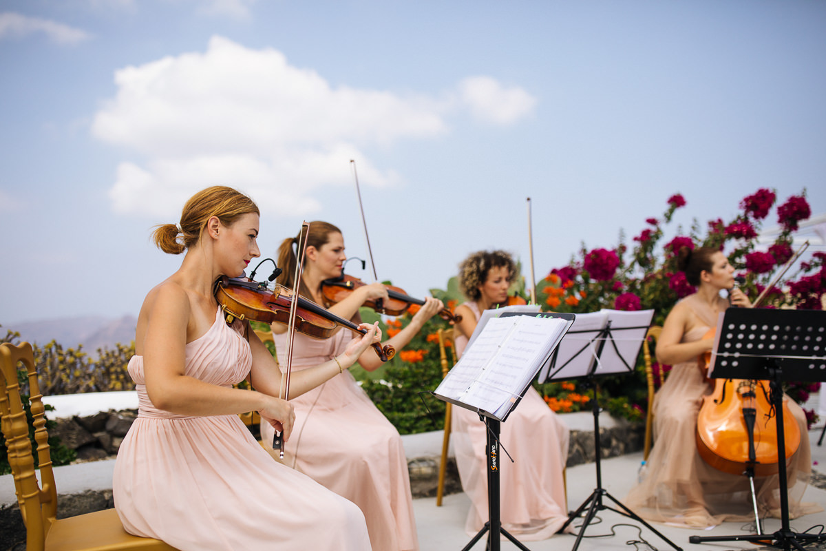 string quartet santorini wedding