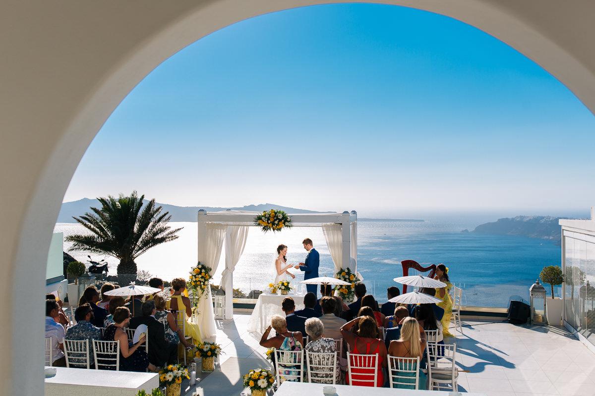 Wedding in Le Ciel Santorini