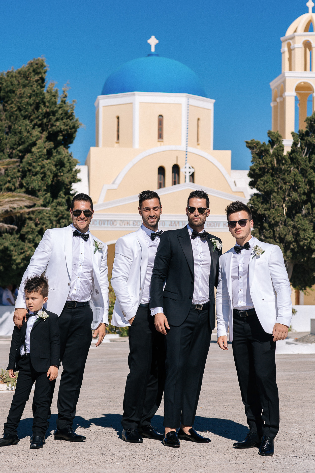 religious santorini wedding