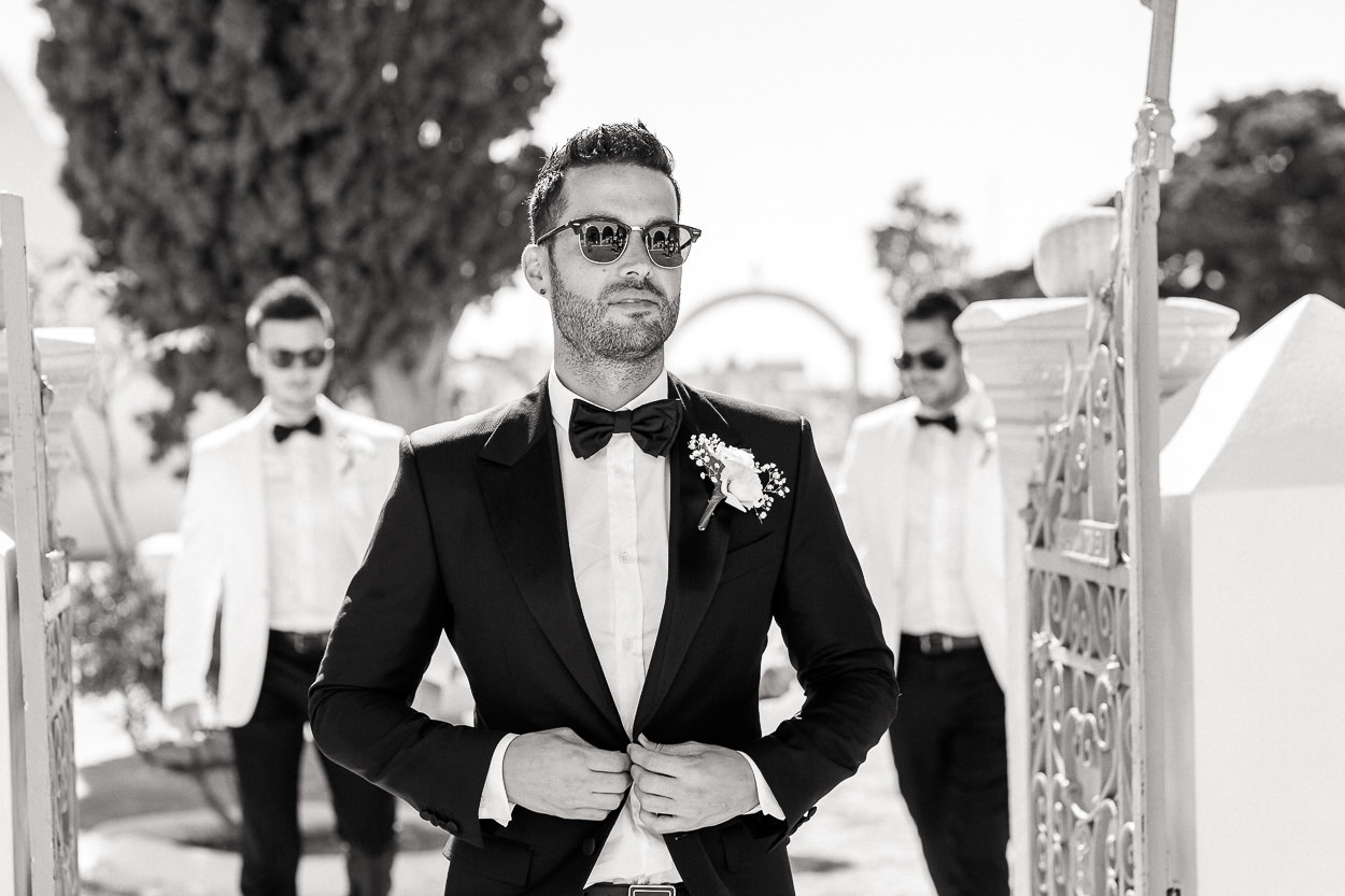 santorini groom suit ideas