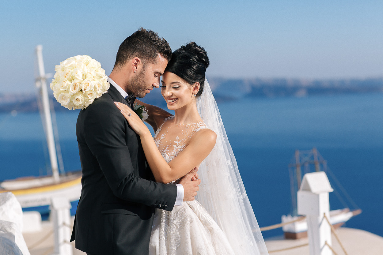 best santorini wedding photos