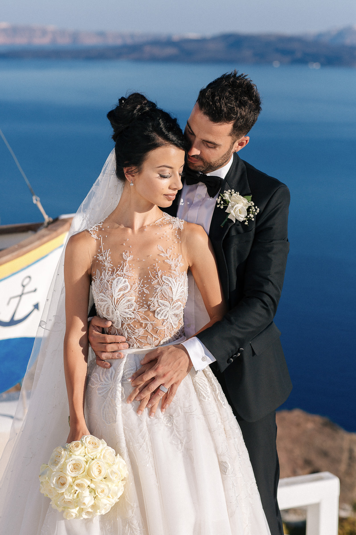 santorini wedding couple photos