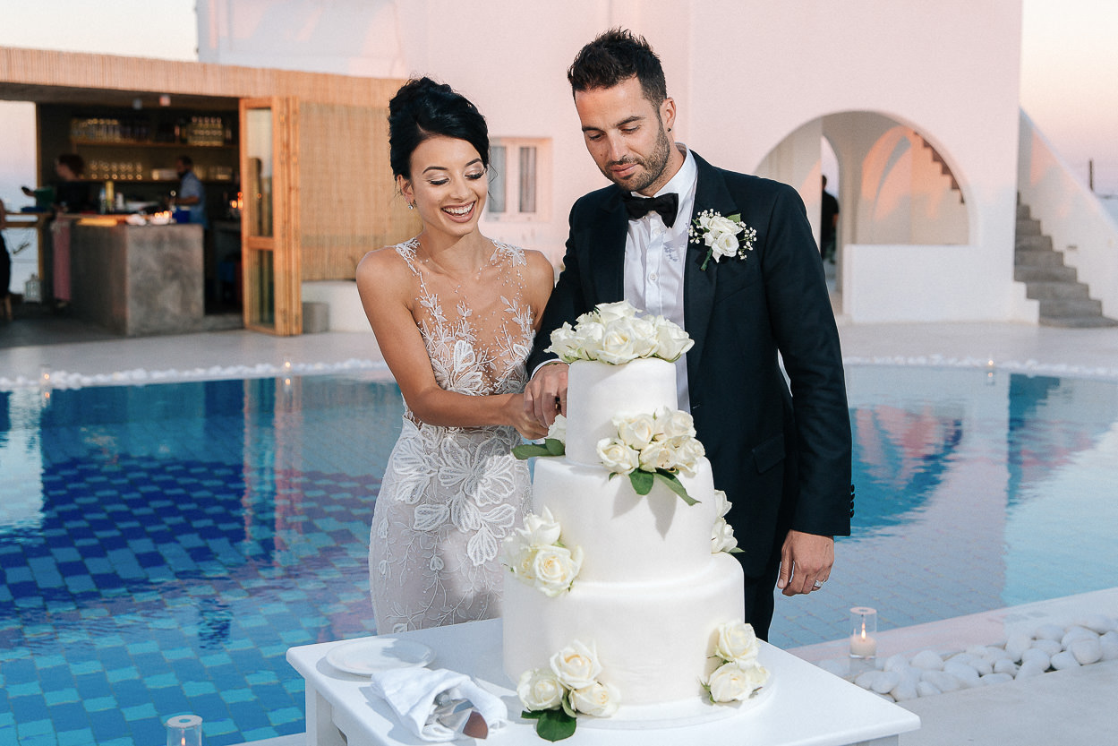 exclusive pool rocabella santorini wedding