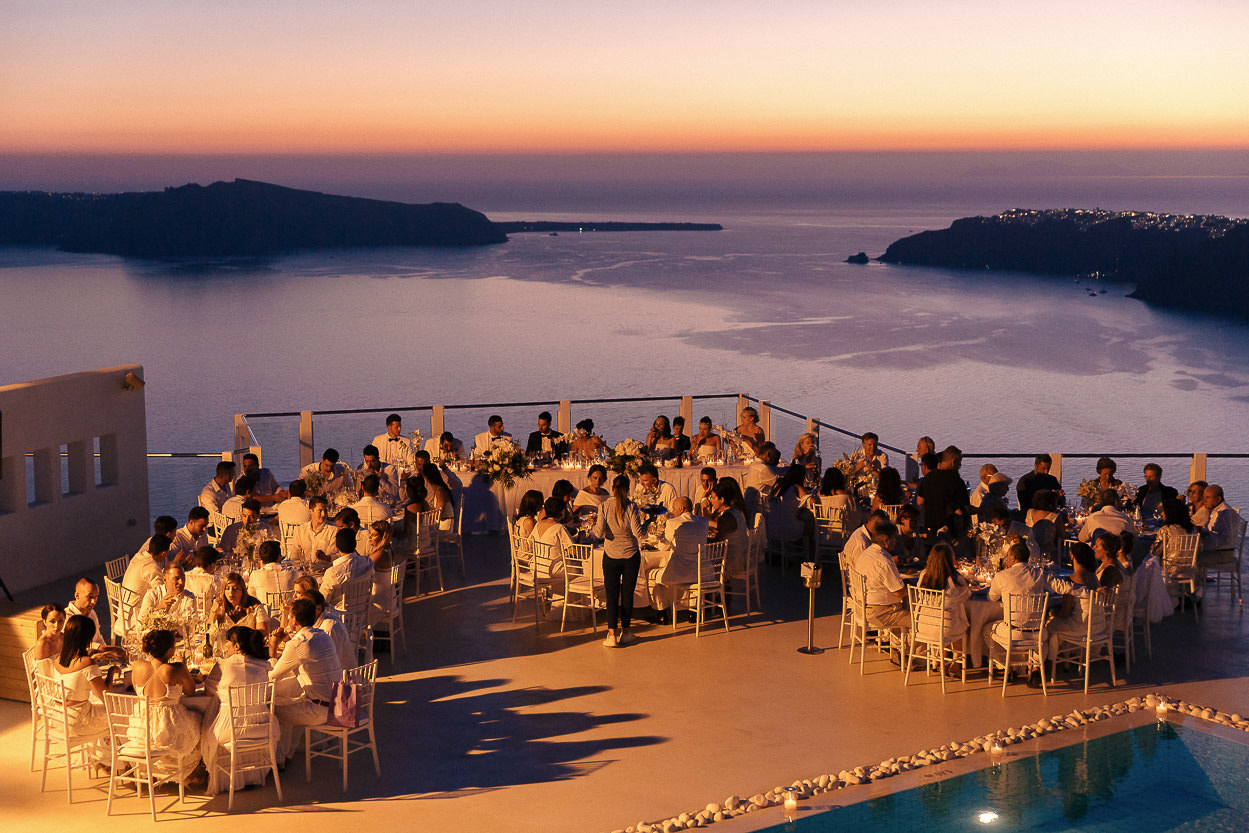 santorini wedding rocabella exclusive pool
