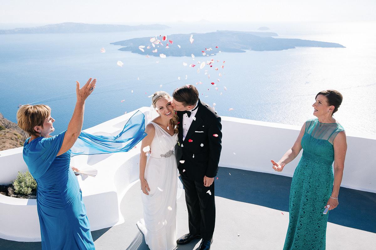 wedding in altavista suites santorini