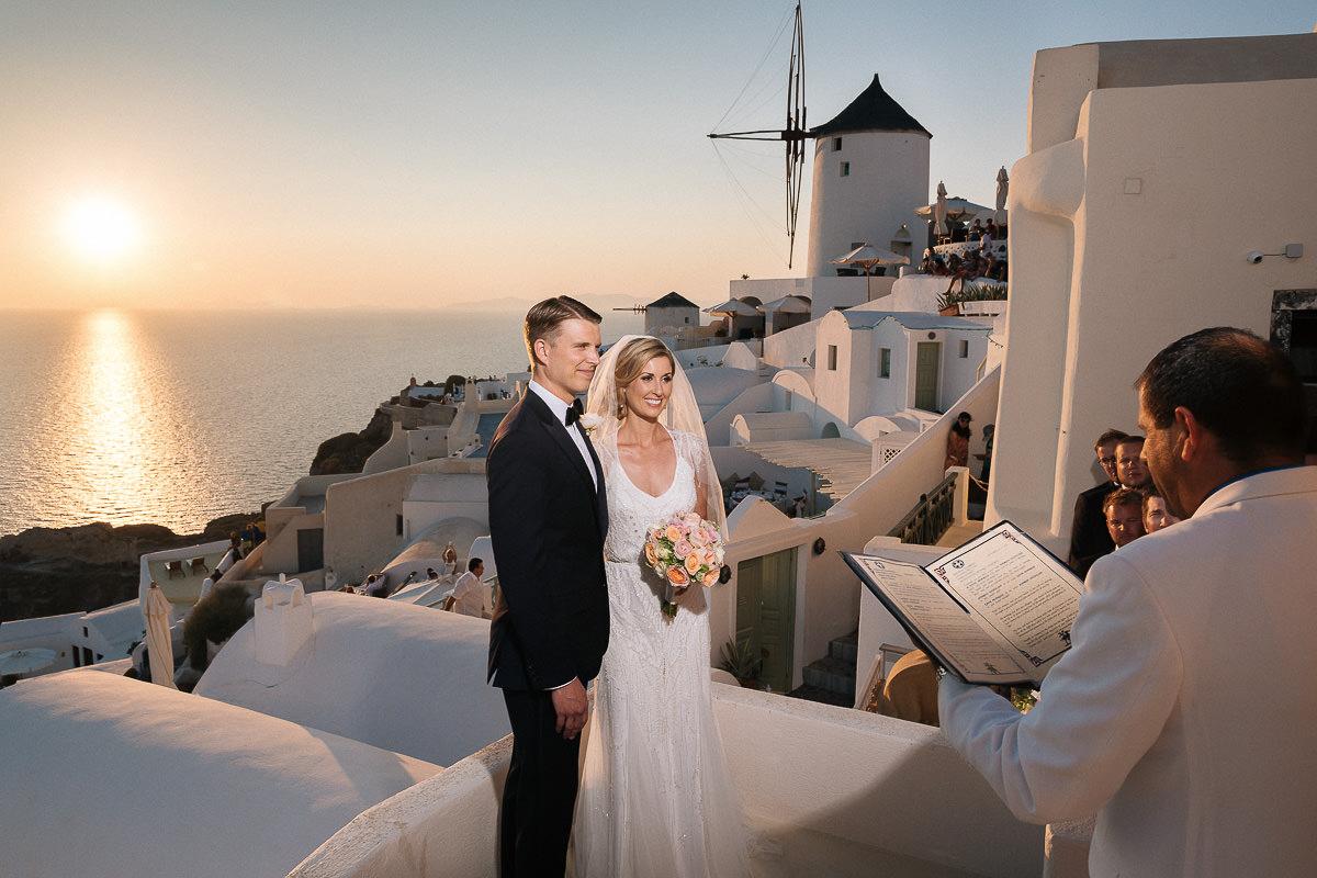 wedding at fanari villas santorini
