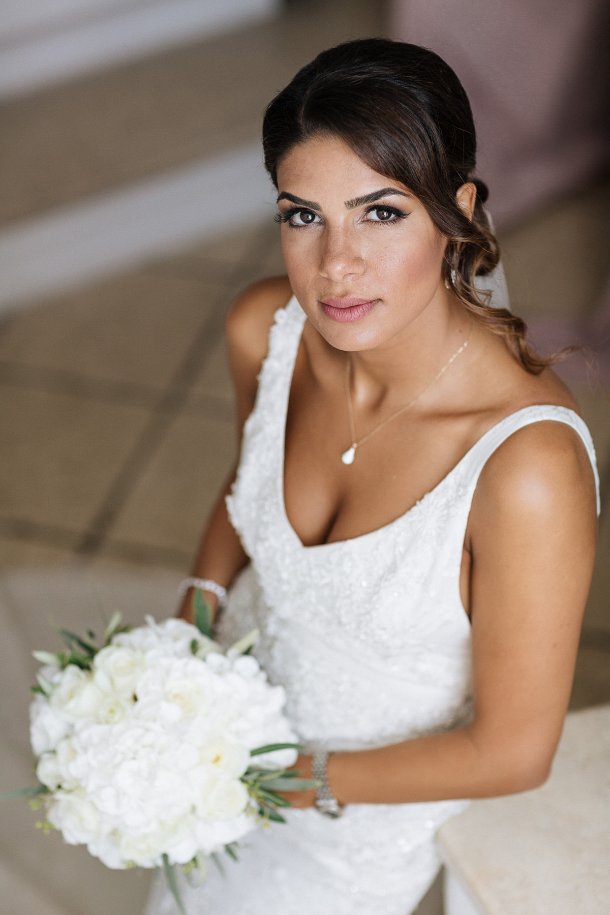 Bridal portrait Santorini