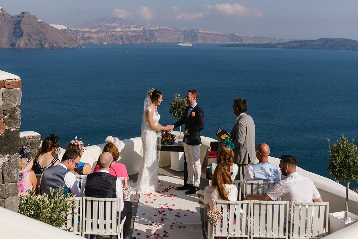 Canaves oia panorama balcony santorini wedding venues