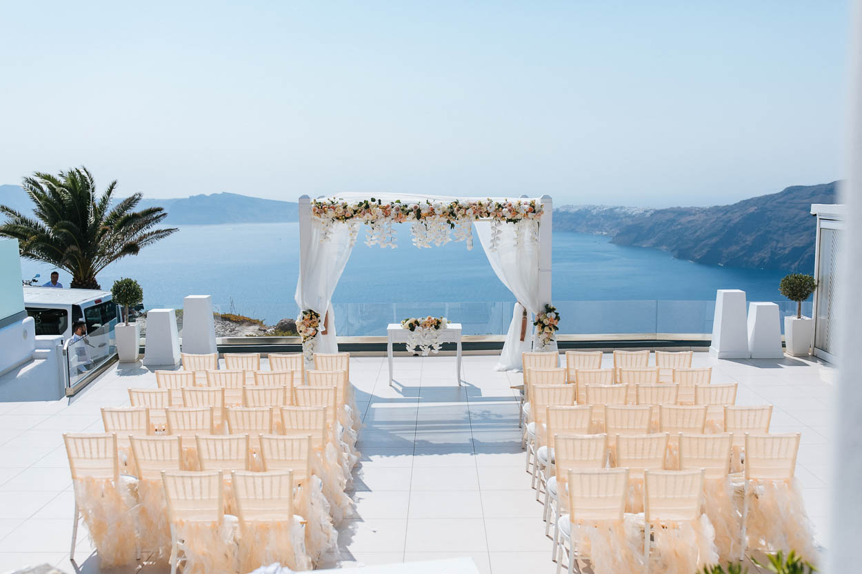 Le Ciel Santorini wedding venues