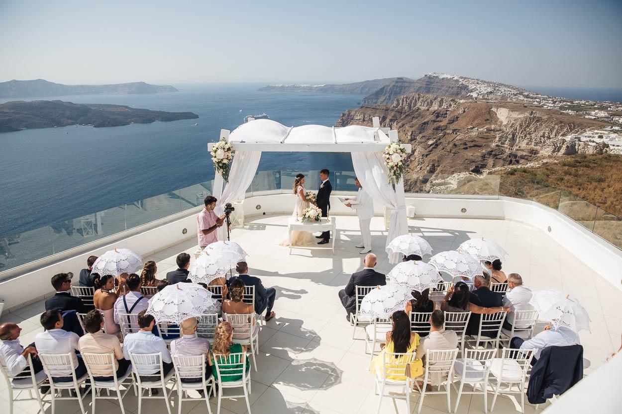 Santo winery santorini wedding venues