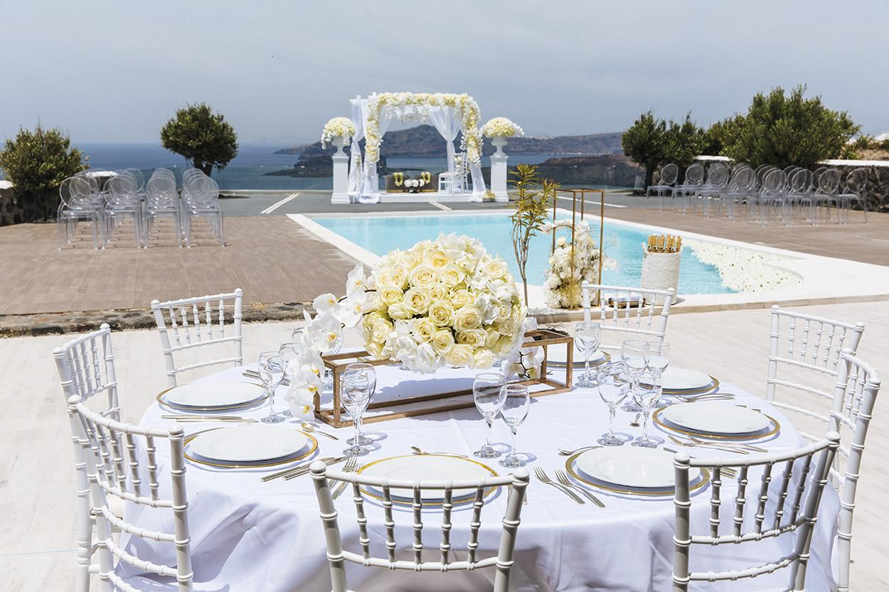 Thermes Villas santorini wedding venues
