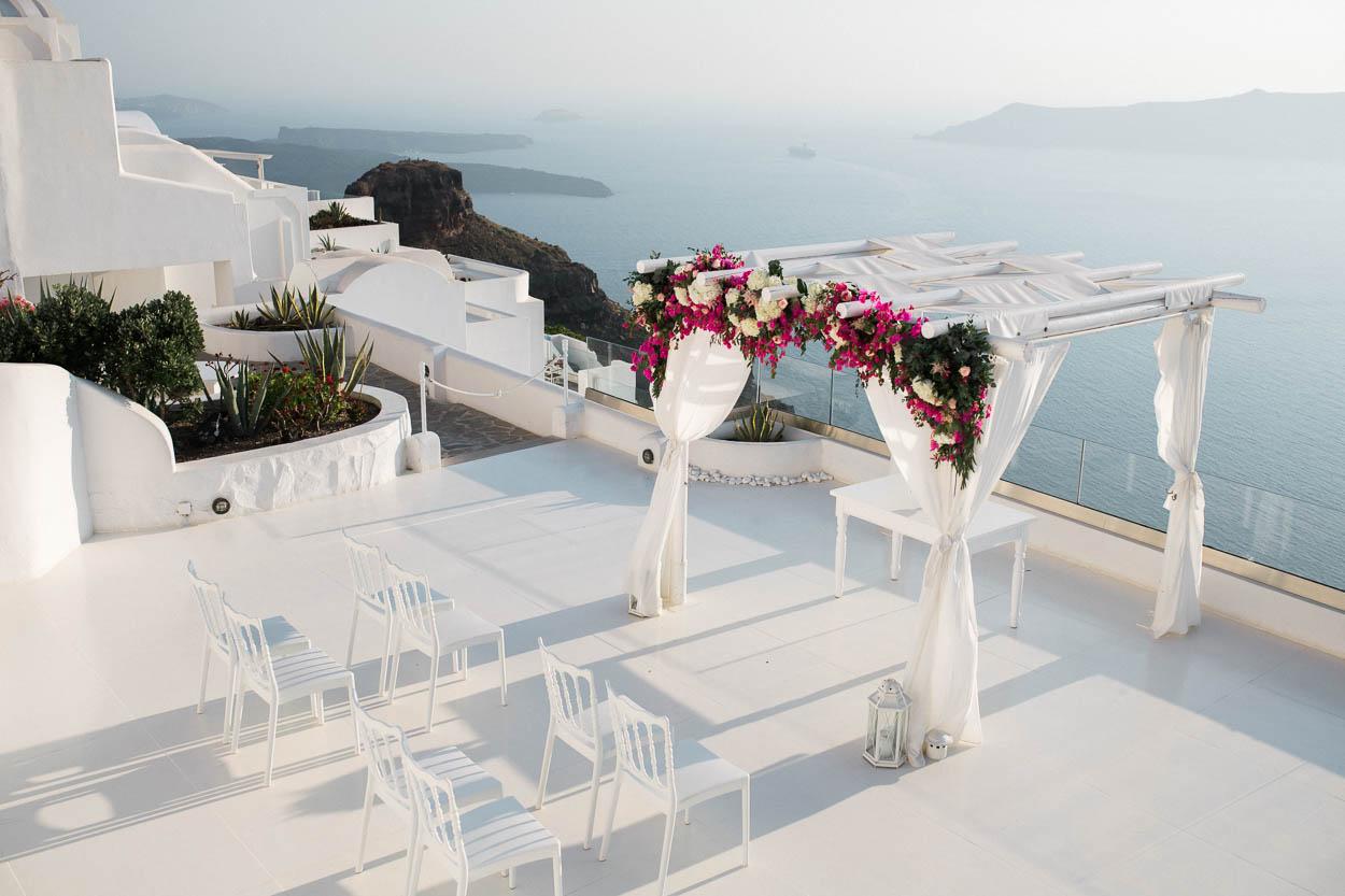 andromeda villas santorini wedding venues